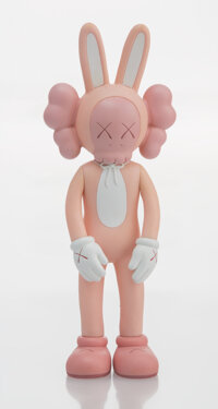 KAWS (b. 1974) Accomplice (Pink), 2002 Painted cast vinyl 9-1/4 x 3-1/2 x 2 inches (23.5 x 8.9 x 5.1 cm) Ed. 356/100