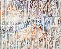 RETNA (b. 1979) They Can't Come, 2015 Acrylic on canvas 96 x 120 inches (243.8 x 304.8 cm) Signed, dated, and titled