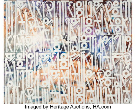 RETNA (b. 1979) They Can't Come, 2015 Acrylic on canvas 96 x 120 inches (243.8 x 304.8 cm) Signed, dated, and titled...