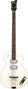 Musical Instruments:Bass Guitars, 2015 Hofner 500/2 White Electric Bass Guitar, Serial #R10063.. ...