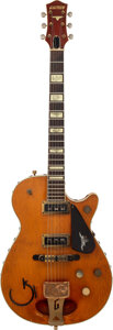 Musical Instruments:Electric Guitars, 1955 Gretsch 6130 Round Up Knotty Pine Solid Body Electric Guitar, Serial #13116.. ...