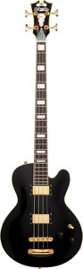 Musical Instruments:Bass Guitars, 2013 D'Angelico Excel Black Electric Bass Guitar, Serial #US14100410.. ...