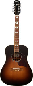 Musical Instruments:Acoustic Guitars, 2018 Gibson Hummingbird Pro Sunburst 12 String Acoustic Guitar, Serial #11768038.. ...