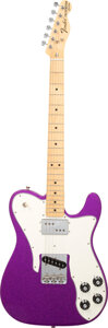 Musical Instruments:Electric Guitars, 2018 Fender Telecaster Custom Purple Sparkle Solid Body Electric Guitar, Serial #MX18124764.. ...