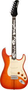 Musical Instruments:Electric Guitars, 2007 Hamiltone SRV Sunburst Solid Body Electric Guitar, Serial #507.. ...