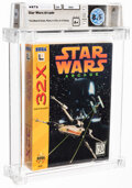 Video Games:Sega, Star Wars Arcade - Wata 8.5 A+ Sealed [Cardboard Slide], 32X Sega 1994 USA. ...