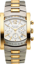 """Timepieces:Wristwatch, Bvlgari, Large Steel And Gold """"Assioma"""" Automatic Chronogr..."""