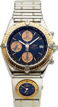 Timepieces:Wristwatch, Breitling, Ref. C13048 Steel And Gold Automatic Chronomat ...