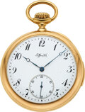 Timepieces:Pocket (post 1900), Tiffany & Co., 18k Gold Five-Minute Repeating Pocket Watch, circa 1902. ...