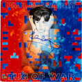 """Music Memorabilia:Autographs and Signed Items, Paul McCartney Signed """"Tug Of War"""" Album from Japan with Poster & Lyric Sheet/Photo's 1982...."""