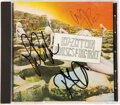 Music Memorabilia:Autographs and Signed Items, Led Zeppelin House of the Holy CD Signed by Robert Plant, Jimmy Page, and John Paul Jones (Atlantic, A2-19130)....