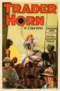 """Trader Horn (MGM, 1931). Good/Very Good on Linen. One Sheet (27.5"""" X 41"""")"""