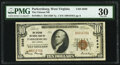 National Bank Notes:West Virginia, Parkersburg, WV - $10 1929 Ty. 1 The Citizens National Bank Ch. # 2649 PMG Very Fine 30.. ...