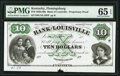 Flemingsburg, KY- Bank of Louisville at Flemingsburg Branch $10 18__ as G10 Proprietary Proof PMG Gem Uncirculated