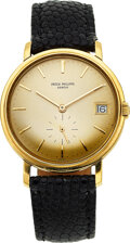 Timepieces:Wristwatch, Patek Philippe, 18k Yellow Gold Automatic Wristwatch With Date, Ref. 3445, circa 1960's. ...