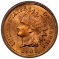 Indian Cents, 1909 1C MS66 Red PCGS. PCGS Population: (211/18 an...