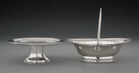 Two English Silver Table Articles, Newcastle, London, 1711, 1785 Marks: (various) 5-1/2 x 6-1/2 x 5 inches (14