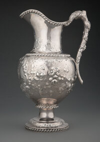 William Gale & Son Coin Silver Water Pitcher, New York, circa 1852 Marks: Wm. GALE & SON, NEW YORK, (G&...