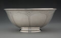Silver & Vertu, An Arthur Stone Berry in Calyx Silver Footed Bowl, Gardner, Massachusetts, 1909-1919. Marks: (chasing hammer-Sto...