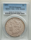 Morgan Dollars, 1893 $1 -- Questionable Color -- PCGS Genuine. Unc Details. Mintage 389,792. . From The Maltese Collection....