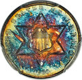 Proof Three Cent Silver, 1860 3CS PR67 PCGS. CAC....