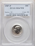 Roosevelt Dimes, 1987-P 10C MS67 Full Bands PCGS. PCGS Population: (5/0). NGC Census: (6/0). CDN: $700 Whsle. Bid for NGC/PCGS MS67. Mintage...