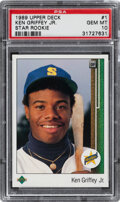Baseball Cards:Singles (1970-Now), 1989 Upper Deck Ken Griffey Jr. #1 PSA Gem Mint 10.