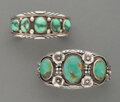 American Indian Art:Jewelry and Silverwork, Two Navajo Cuff Bracelets... (Total: 2 )