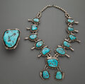 American Indian Art:Jewelry and Silverwork, Two Navajo Jewelry Items... (Total: 2 )
