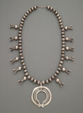 American Indian Art:Jewelry and Silverwork, A Navajo Squash Blossom Necklace...
