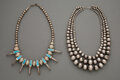 American Indian Art:Jewelry and Silverwork, Two Southwest Necklaces... (Total: 2 )