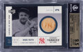 Baseball Cards:Singles (1970-Now), 2001 UD Legends of N.Y. Game Bats Babe Ruth BGS Gem Mint 9.5. ...