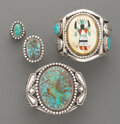 American Indian Art:Jewelry and Silverwork, Four Southwest Jewelry Items... (Total: 4 )