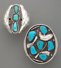 American Indian Art:Jewelry and Silverwork, Two Large Navajo Bracelets... (Total: 2 )