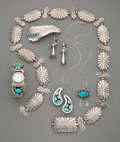 American Indian Art:Jewelry and Silverwork, Six Navajo Jewelry Items... (Total: 6 )