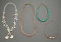 American Indian Art:Jewelry and Silverwork, Four Southwest Necklaces... (Total: 4 )