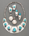 American Indian Art:Jewelry and Silverwork, Four Navajo Jewelry Items... (Total: 4 )