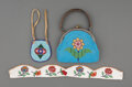American Indian Art:Beadwork and Quillwork, Three Plains / Plateau Beaded Hide Items... (Total: 3 )