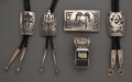 American Indian Art:Jewelry and Silverwork, Five Hopi Jewelry Items... (Total: 5 )