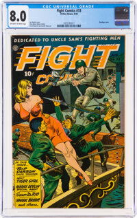 Fight Comics #33 (Fiction House, 1944) CGC VF 8.0 Off-white to white pages