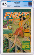 Golden Age (1938-1955):War, Fight Comics #35 (Fiction House, 1944) CGC VF+ 8.5 Off-white to white pages....