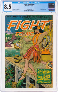 Fight Comics #35 (Fiction House, 1944) CGC VF+ 8.5 Off-white to white pages