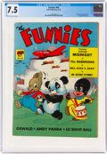 Golden Age (1938-1955):Cartoon Character, The Funnies #64 (Dell, 1942) CGC VF- 7.5 Cream to off-white pages....