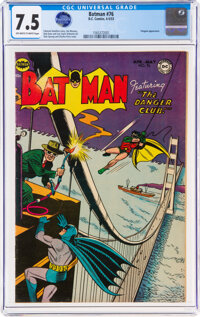 Batman #76 (DC, 1953) CGC VF- 7.5 Off-white to white pages