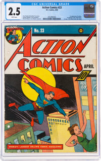 Action Comics #23 (DC, 1940) CGC GD+ 2.5 White pages