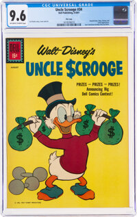 Uncle Scrooge #34 File Copy (Dell, 1961) CGC NM+ 9.6 Off-white to white pages