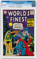 Silver Age (1956-1969):Superhero, World's Finest Comics #98 (DC, 1958) CGC NM- 9.2 Off-white to white pages....