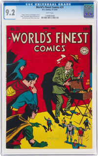 World's Finest Comics #31 (DC, 1947) CGC NM- 9.2 White pages