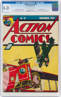 Action Comics #18 (DC, 1939) CGC FN 6.0 Cream to off-white pages