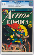 Golden Age (1938-1955):Superhero, Action Comics #26 (DC, 1940) CGC VF 8.0 Off-white pages....